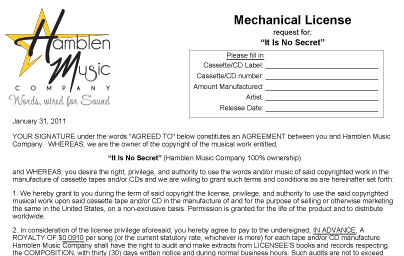 Mechanical or Print License?